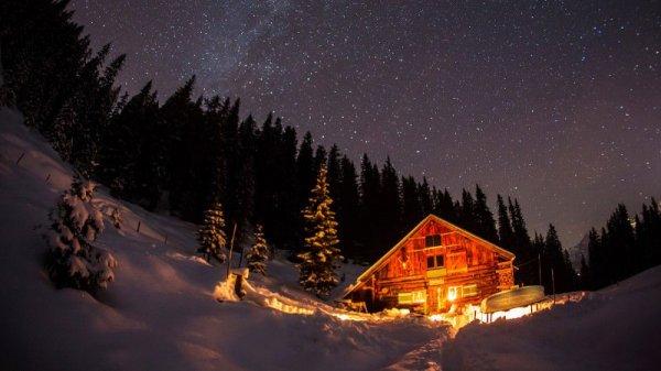 778ceb0bd5 Tündéri magányos házak a téli erdőben | Itt se voltam - a rendhagyó ...